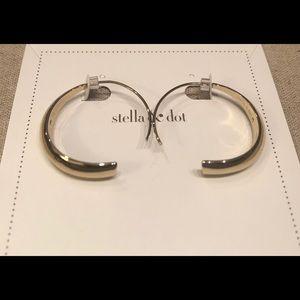 Stella & Dot Dome Hoop Earring Bronze